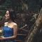 乾燥花 復古蕾絲 藍色晚禮服 新娘超美 老公很帥(編號:51458)