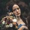 乾燥花 復古蕾絲 藍色晚禮服 新娘超美 老公很帥(編號:51462)