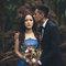 乾燥花 復古蕾絲 藍色晚禮服 新娘超美 老公很帥(編號:51463)