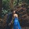 乾燥花 復古蕾絲 藍色晚禮服 新娘超美 老公很帥(編號:51466)