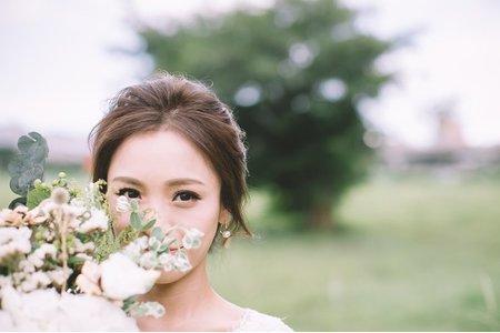 草原風 乾燥花 捧花