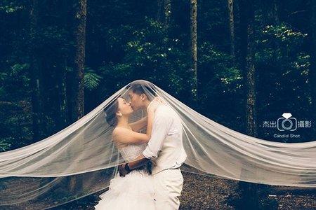 美麗華拍婚紗 金色三麥 復古蕾絲