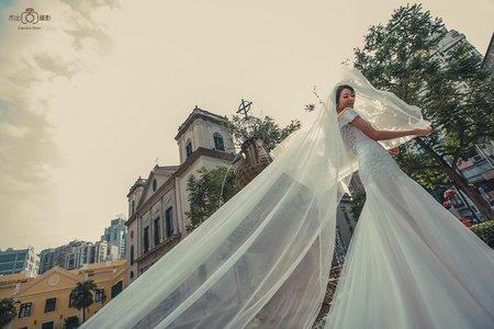 『海外婚紗』 賭場 澳門塔 主教山 蛋塔 威尼斯人