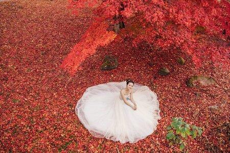 『海外婚紗』 輕井澤 楓葉 雲場池 星野溫泉