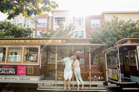 『海外婚紗』Golden Gate Bridge  cable car