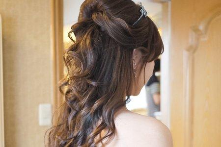 甜美公主長髮造型