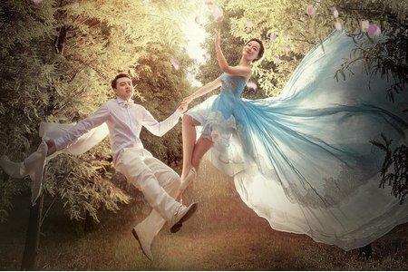 [凱瑟琳]浪漫森林風格/漂浮婚紗 #1