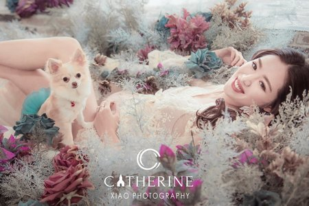 【凱瑟琳婚紗攝影】明星 劉伊心 x  凱瑟琳婚紗 - 訂製款孕婦婚紗