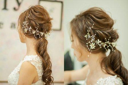 新娘Airi 宴客單妝x鬆軟盤髮