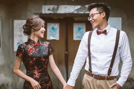 旗袍復古婚紗