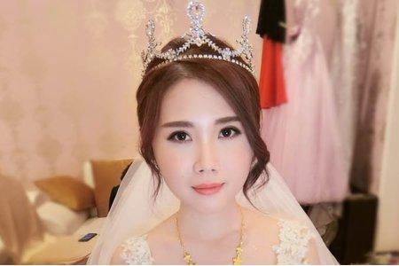 夢幻城堡彩妝造型團隊-新秘蓁妮-婚宴造型