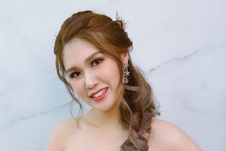 夢幻城堡彩妝造型/新秘羽寧-乾燥花甜美風新娘造型