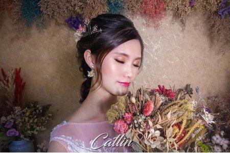 夢幻城堡彩妝造型/新秘catlin-乾燥花甜美風新娘造型