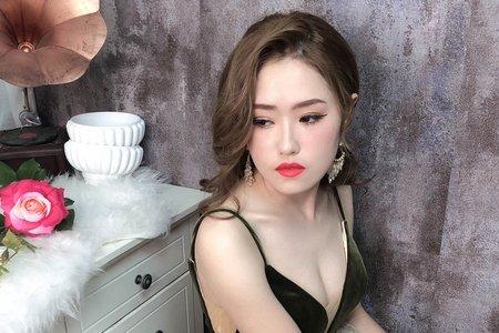 韓系優雅風 新秘婕喬 夢幻城堡彩妝造型團隊