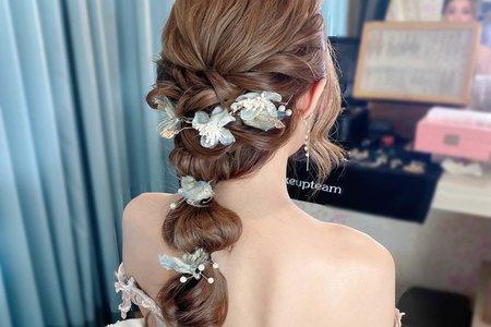 後編髮造型-新娘造型-夢幻城堡彩妝造型團隊
