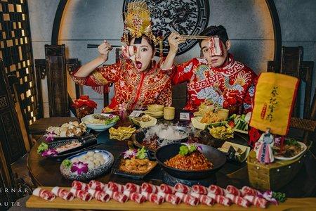 中式婚紗|龍鳳掛與旗袍婚紗