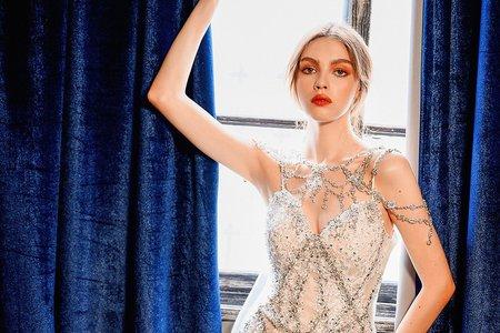 獨家蘇菲設計水晶禮服
