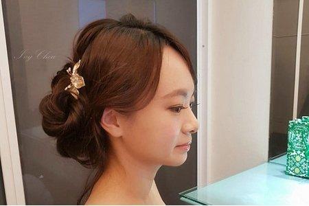 高雄新秘/自然裸妝/宴客優雅盤髮