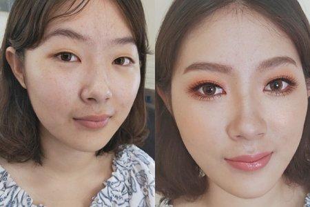 高雄新秘IvyChou眼型調整-單眼皮作品