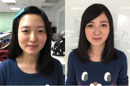 妝前妝後對比圖