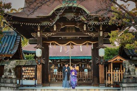 『海外婚紗』關西櫻花和服婚紗