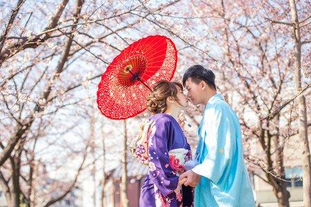 『婚紗攝影』海外京都櫻花婚紗