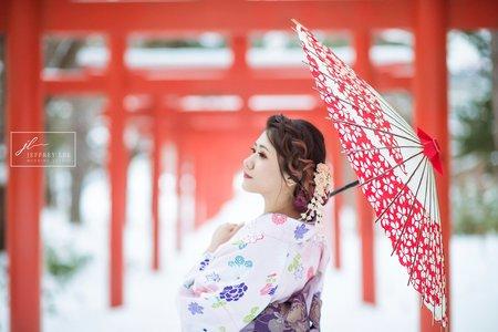 『海外婚紗』浪漫北海道雪景星培球球