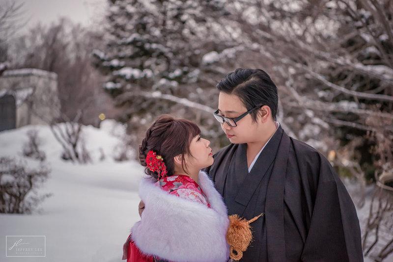 北海道雪景婚紗