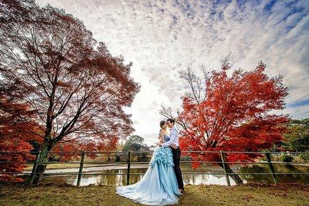 「海外婚紗」京都楓葉紅葉婚紗