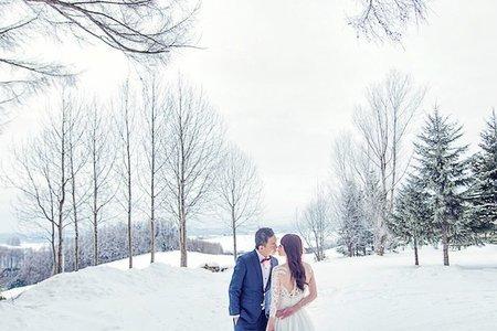 雪國 最歡樂活潑的北海道婚紗