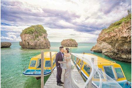 『婚紗攝影』陽光沙灘比基尼 沖繩婚紗
