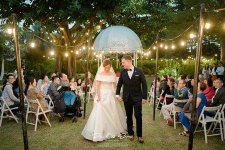 桃園綠風草原 溫室 美式婚禮 晚宴