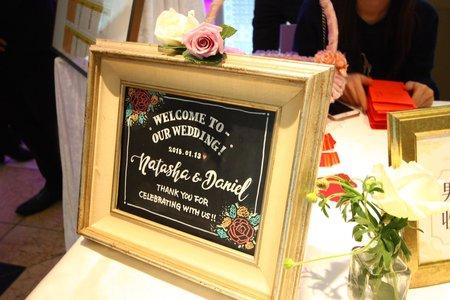 婚禮佈置 / 手繪粉筆黑板畫