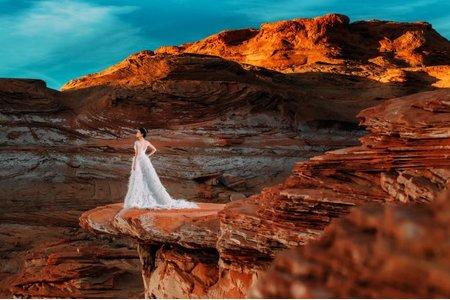 美國加州拉斯維加斯海外婚紗