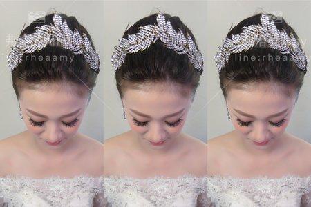韓式白紗髮型