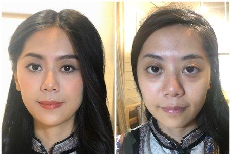 妝前妝後對比照