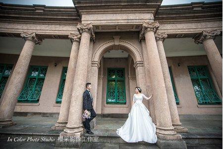 自助婚紗-水博館古典婚紗風格