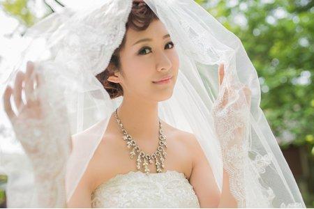【歐美百年優雅高貴】浪漫復古編髮/陶瓷遮瑕妝新娘秘書/新娘造型作品