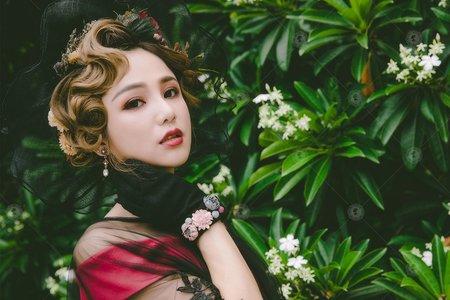 【魅惑貝拉】優雅大氣/蕾絲黑紗/微醺酒紅