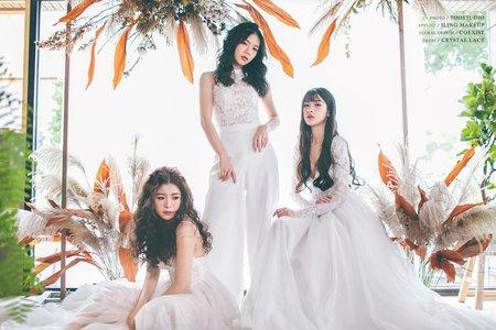 韓系妝容|韓式編髮 【閨蜜森活】閨蜜寫真