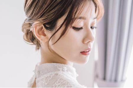 韓系/唯美【玉軟花柔】典雅盤髮/精緻眼妝/日系抽絲作品