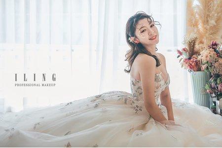 韓系/乾燥花/浪漫/婚紗【花季未了】線條瀏海/長捲髮/花瓣妝