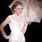 中式剪裁的法國蕾絲魚尾白紗,復古浪漫