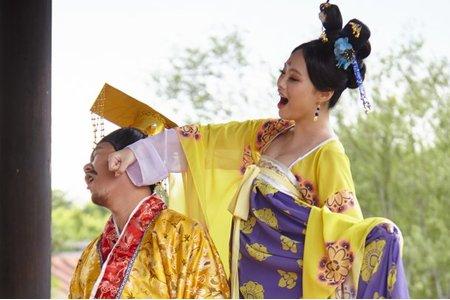 <青樺婚紗>特色婚紗-武媚娘婚紗側拍