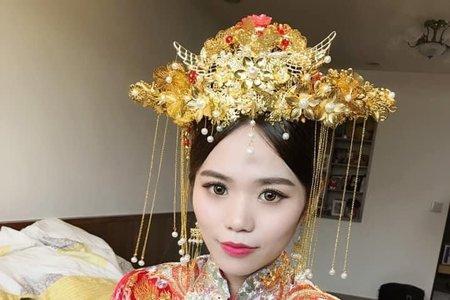 高雄新秘韓風婚禮造型鮮花造型