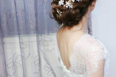 2016韓式新娘低盤髮