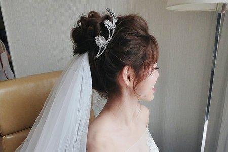 仙女盤髮+氣質皇冠