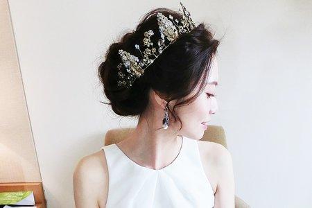 法式簡約王妃+編髮蝴蝶結