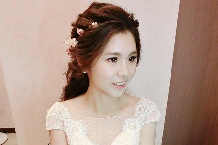 浪漫髮絲+乾燥花公主