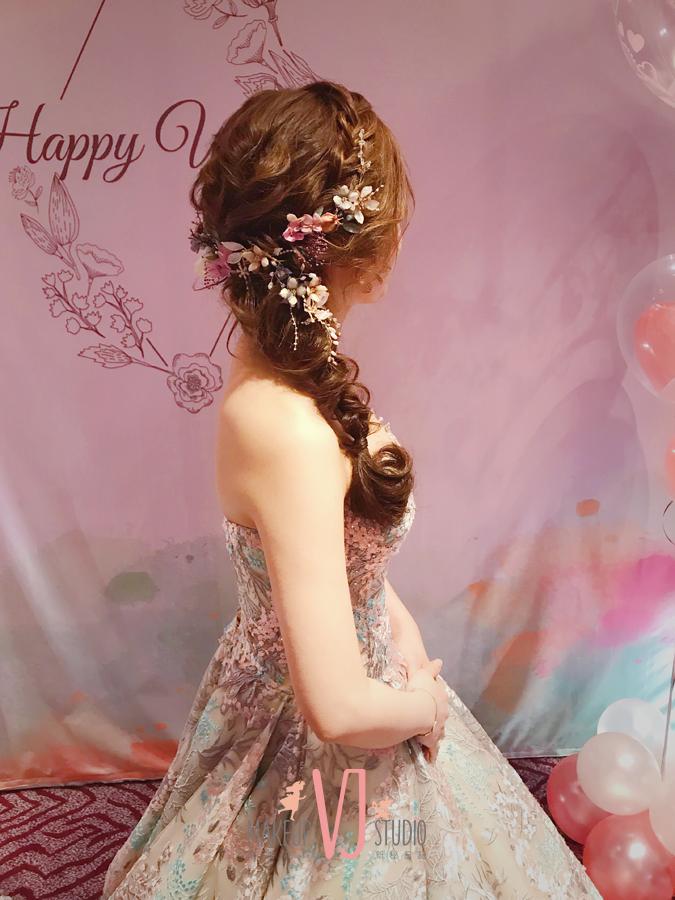 短髮,接髮,髮片,新娘造型,新秘